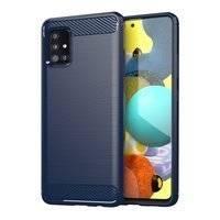 Carbon Case elastyczne etui pokrowiec Samsung Galaxy A51 5G niebieski