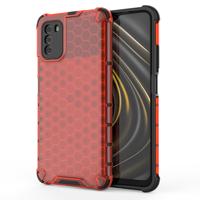 Honeycomb etui pancerny pokrowiec z żelową ramką Xiaomi Poco M3 / Xiaomi Redmi 9T czerwony