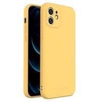 Wozinsky Color Case silikonowe elastyczne wytrzymałe etui iPhone XR żółty