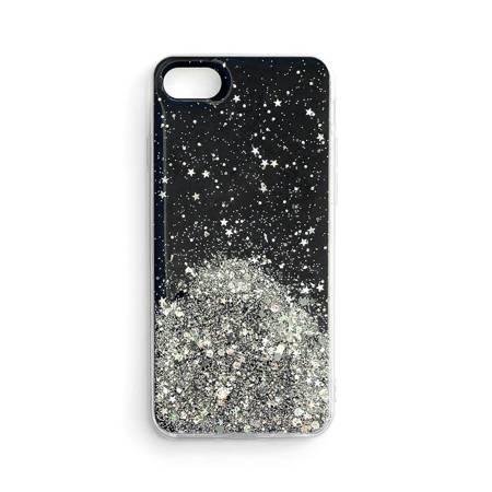 Wozinsky Star Glitter błyszczące etui pokrowiec z brokatem Samsung Galaxy A41 czarny
